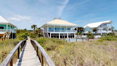 "Photo for Ready Now- No Storm Issues! No Fees! Beachfront, Plantation, Pool, Hot Tub, Pets OK, 4br/3ba ""A Seaside Retreat"""