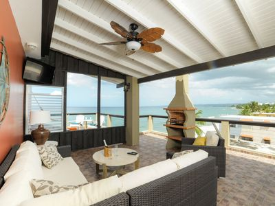 Photo for ★★★ 7th Night Free ★★★ Beachfront Penthouse/Like-New/AC/Laundry/WiFi/Parking.