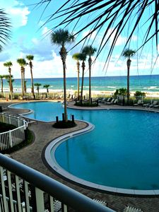 Photo for 2nd Floor, Corner Unit!! Overlooking Pool and Beach!  Free beach chairs