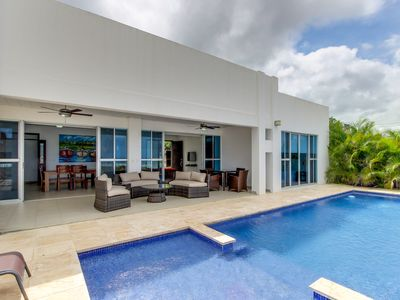Photo for Long-term discounts: hilltop gated community home w/ private pool, ocean views