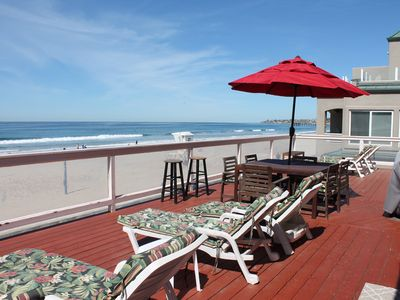 Photo for OCEANFRONT Property, beautiful views overlooking the beach. HUGE PRIVATE DECK!