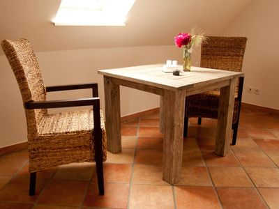 Photo for In this beautiful junior suite for two people, certified with 3 stars by DTV, there is a bedroom with double bed (140x200 cm), a kitchen and a balcony overlooking the countryside.