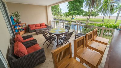 Photo for Oceanfront Beachfront condo The Palms Jacó Beach Vacation Rental 102 Costa Rica