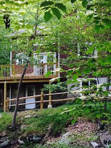"""Photo for Rustic, Pet Friendly, FirePlace/Pit, PoolTable,Wifi, 55"""" TV,  Renovated Sleeps12"""