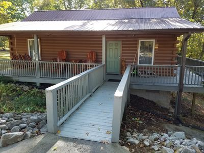 Photo for Cabin 3 is a quiet log cabin on a peaceful road on Lookout Mountain.