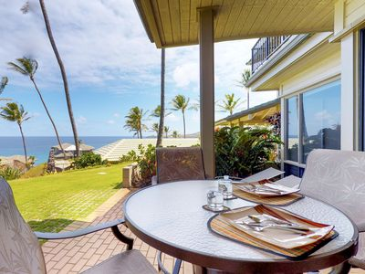 Photo for Ground floor, oceanview condo w/ lanai, resort pool, and beach access