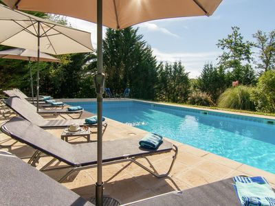 Photo for Spacious villa with heated pool, several terraces and a lot of privacy.