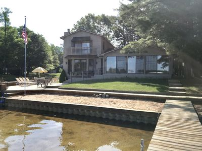 Photo for Upper Silver Lake, Beautiful 5 Bedroom Lake Front Cabin Style Home