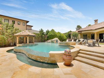 Photo for ABOVE LAKE AUSTIN HACIENDA I Lakefront I Up to 20 Beds | Sport Court I Oasis