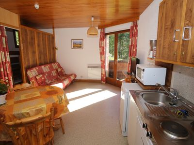 Photo for Studio 4 persons in cottage direct access to the slopes