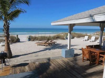 Ground level home- sits right on the beach!