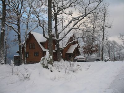 4100 sq. feet of Luxury.  Rocky Top dressed up in a rare winter snow. Christmas day - 2010.