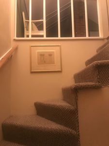 Stairs going to upstairs bedroom