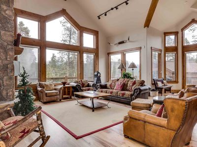 Main Living Room with spectacular mountain views