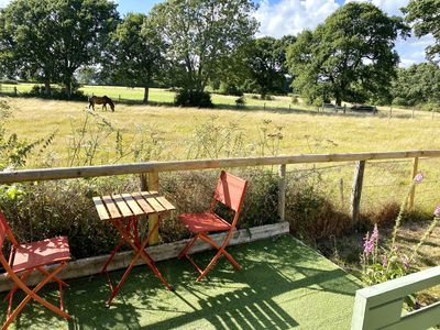 Photo for 3 bedroom cottage, garden, views over the fields, glamping cabin/outdoor office