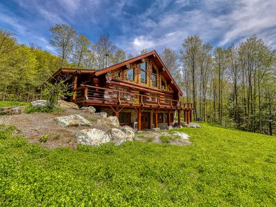 Photo for Mountain cabin with outdoor firepit, wood stove, & beautiful forest views!