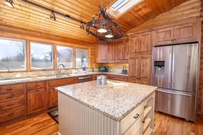Big Sky Lodge Kitchen with All New Appliances