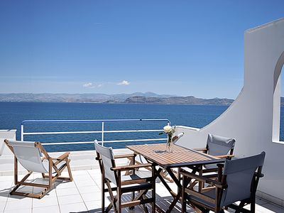 Photo for Holiday beach Apartment,  Sea view balcony, near Nafplio, Mycenae, Epidaurus
