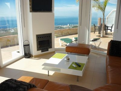 Photo for Dream house with all-year-round pool and spectacular panoramic sea views