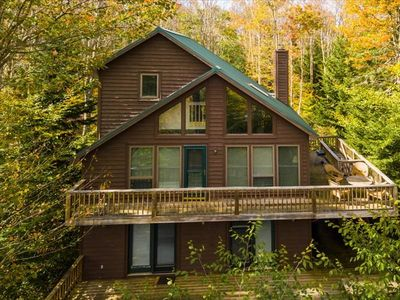 Photo for Mountain Top retreat w/ Awesome views and direct access to Canaan Loop Trails! Hot Tub!