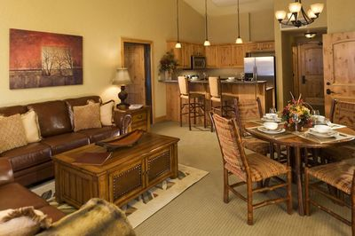 Enjoy the open-plan layout of the suite.