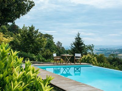 Photo for Casa Barbera great for truffle and wine tasting - Elegant semidetached Villa with Breathtaking view