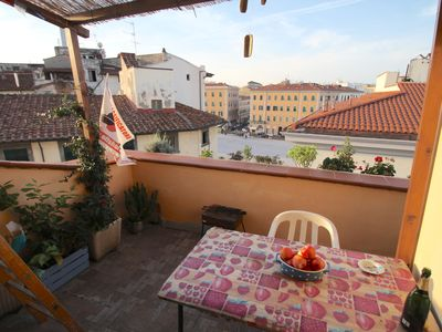 Photo for Pettine House - Terrace on the roofs of Livorno