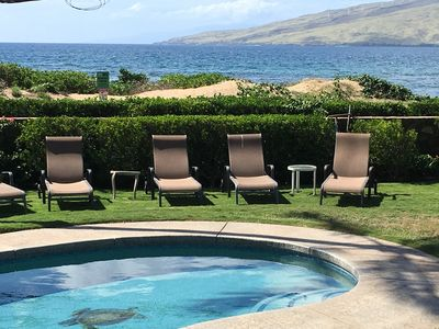 We have six pool chaises for your use.