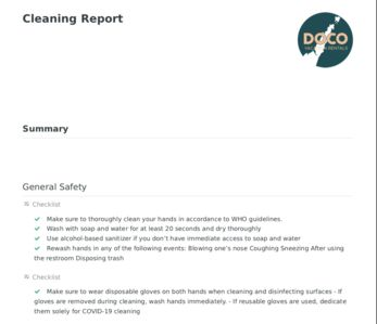 Ensuring comprehensive sanitation protocols are applied across properties is critical now, more than ever.  This checklist has been built with your safety in mind and was been compiled with resources from the CDC, World Health Organization and EPA.