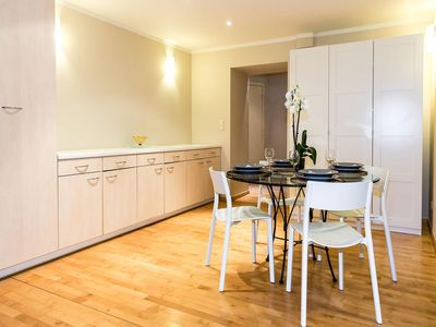 Photo for Patriotes Sweden apartment in European Quarter with WiFi & lift.
