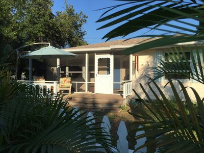 Photo for Primo Waterfront District Location! Solar Beach Bungalow w/Butterfly Garden