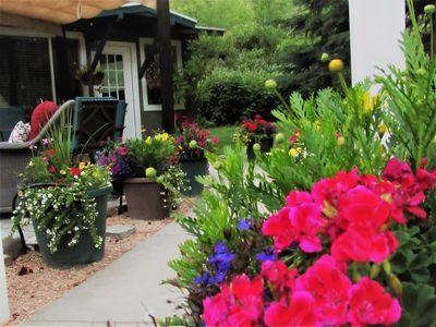 Photo for Charming Cottage w/ pool access at the Famous Sunset Canyon Ranch bordering Zion