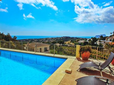 Photo for Alegria - sea view villa with private pool in Moraira