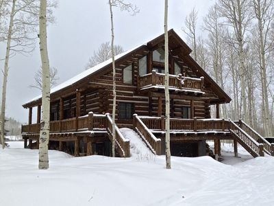 Photo for 'smart home' log cabin east of Heber City