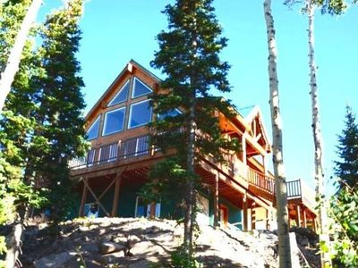 Photo for Enjoy the amazing views surrounding this cabin from your very own jacuzzi on the back deck! Play a g