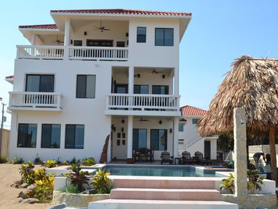 Photo for 3 Story Beautiful Beachfront Custom Built Home with private pool