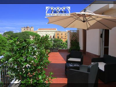 Photo for Palermo Luxury Apartment, Charming Penthouse at UNESCO Arab-Norman sites.
