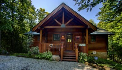 Photo for PRIVATE LOG CABIN on 5 secluded acres with easy access to it ALL - 2 King Suites