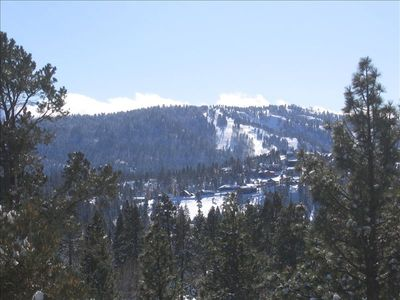 One picture can't show the 180-degree view of the Big Bear Mountain Range.