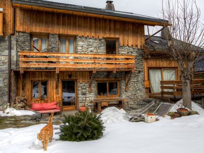 Photo for Warm authentic chalet 12 people in south capital of Méribel