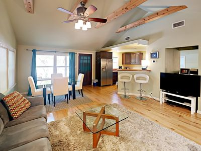 Photo for Walk to Zilker Park! 5BR Urban Oasis w/ Guest House, 1 Block to South Lamar