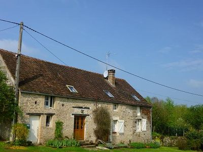 Photo for Comfortable stone cottage in the Auxois near Semur-Dijon
