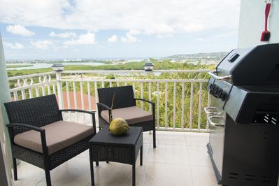 Rear balcony with BBQ. The view is  breathtaking