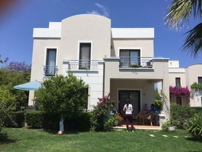 Photo for Family friendly villa 5 minutes to beach and marina in yalikavak