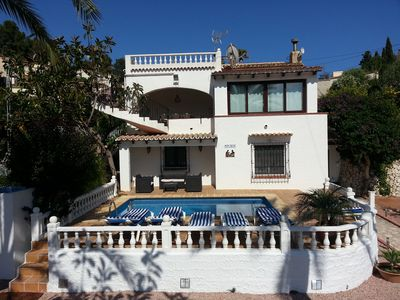 Photo for Spacious villa just five minutes drive from the sea with private pool