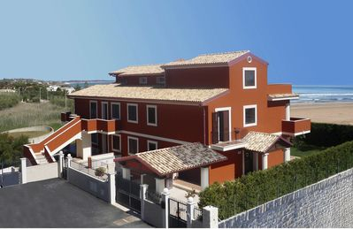 Photo for Dinastia Case: Villa le Mimose, apartm. sea view with swimming pool, beach 30 MT
