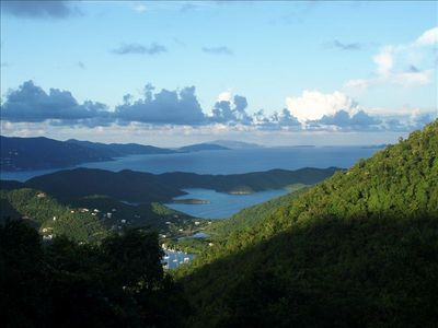 View of Hurricane Hole, Sir Drake Channel, Tortola and Virgin Gorda