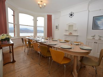 Spacious dining area with beautiful views over the estuary