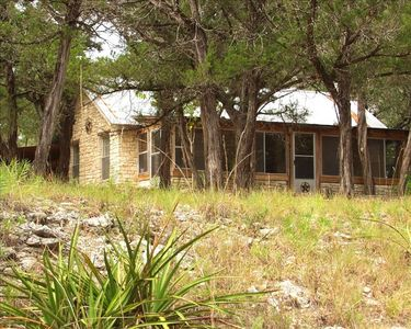 Front of the Little House at Shade Ranch on the Blanco River.