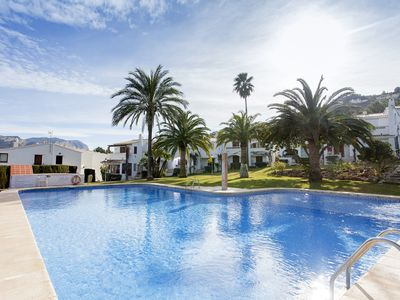 Photo for Fabulous  one bed ground floor apartment overlooking communal pool.  Parking